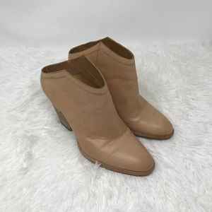 Dolce Vita Leather Slip On Mule Ankle Booties